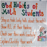 Anchor Chart image of Good Habits of Math Students