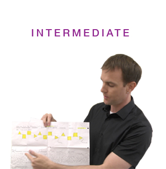 Intermediate section with teacher holding assessment tool